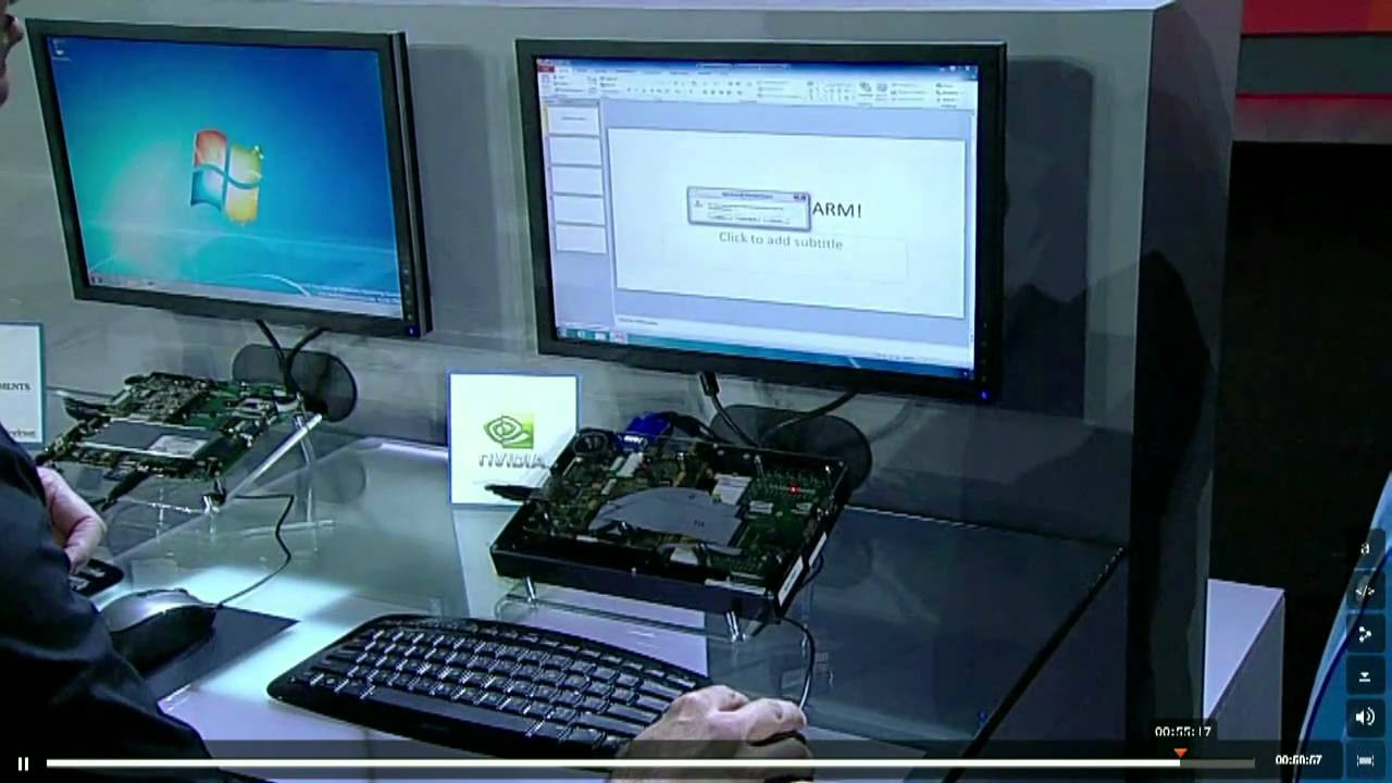 Ballmer Demonstrates Windows and Office on ARM Processor Devices at CES 2011