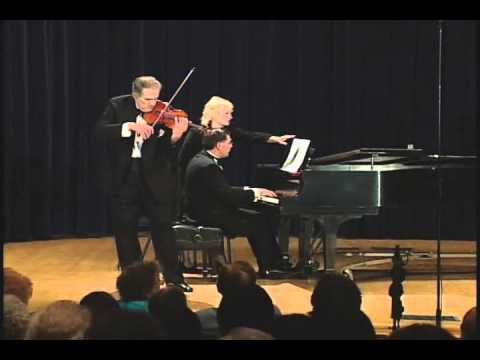 Debussy-Heifetz - Beau Soir played by violinist, Erick Friedman (live performance)