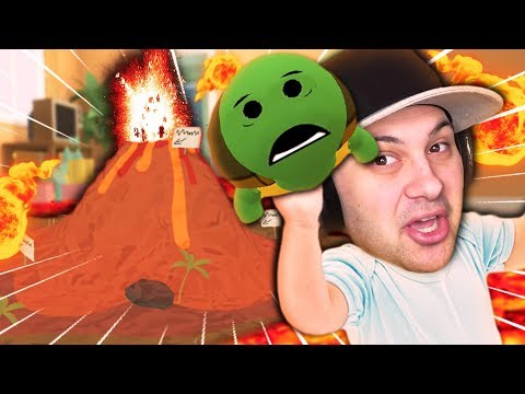 CAN BABY SAVE HIS PET TURTLE FROM FLOOR IS LAVA CHALLENGE?! | Baby Hands VR Gameplay (HTC VIVE)