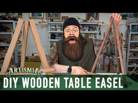 Artist Table Easel ~ WOODWORKING HOW TO DIY ~ Artismia