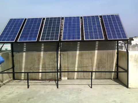 900 watts sloar home project