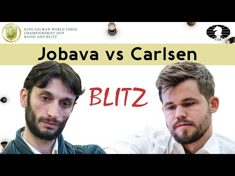 Another example of brilliant technique by Magnus | Jobava vs Carlsen | World Blitz Ch 2019 |