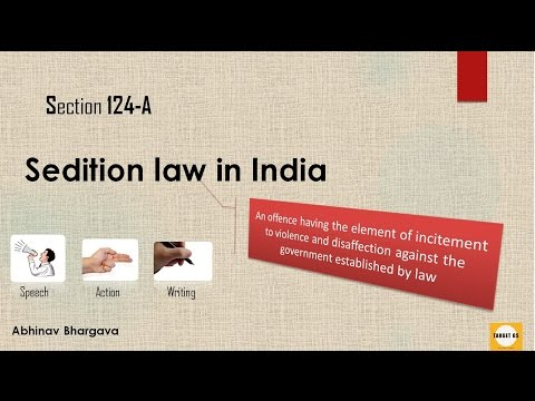 What is Sedition law? for UPSC IAS Preparation