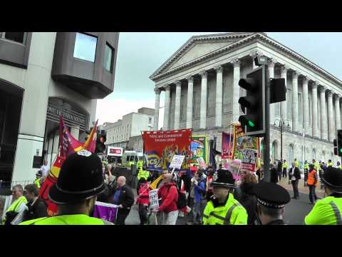 Birmingham-Trade Union protest parade-final stages 18.9.11
