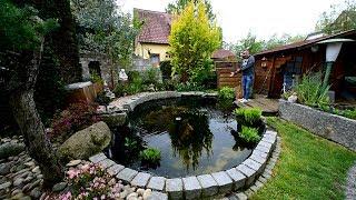 Modern Koi Blog #3163 - Jörgs selbstgebauter 20.000 Liter Teich mit Wasserverlust