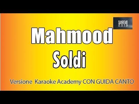Karaoke Italiano  - Mahmood  - Soldi   CON GUIDA CANTO