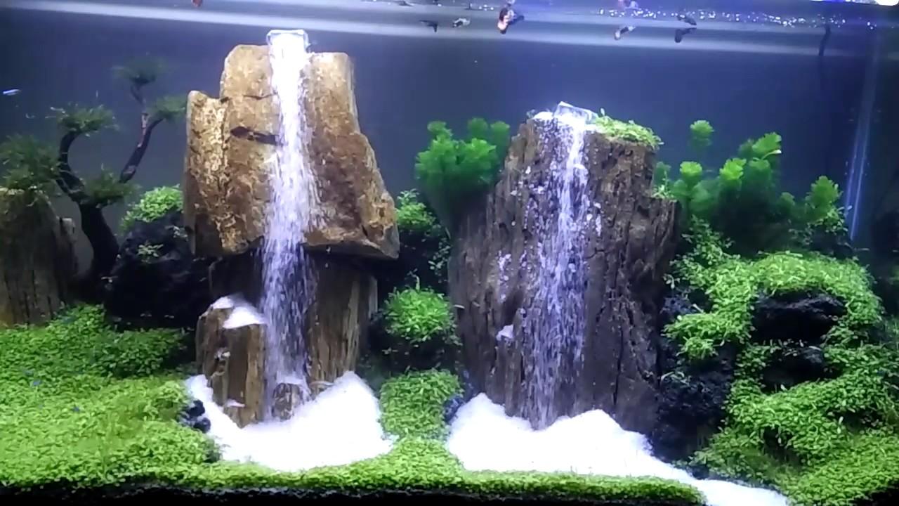 Aquascape 2 Air Terjun Waterfall Aquascape Youtube