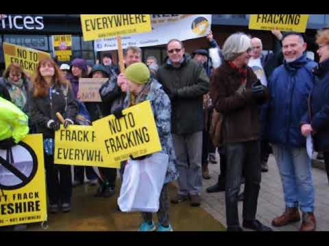 Anti-fracking protesters gathered in Chester 25/1/2018