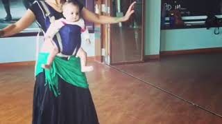 Mom dance with 1year old son in class