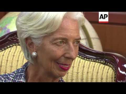 IMF head Lagarde meets SKorean FM
