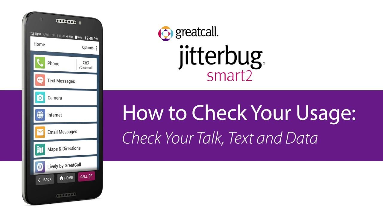 How to Check Your Usage - Jitterbug Smart2