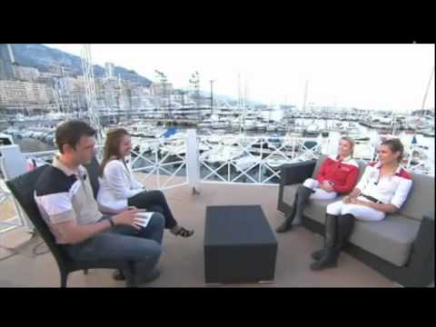 Charlotte Casiraghi Interview - Edwina Alexander and  Charlotte Global Champions Tour Monaco 2011