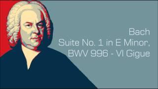 Suite No.1 in E Minor, BWV 996, VI Gigue  Bach - Guitar 2