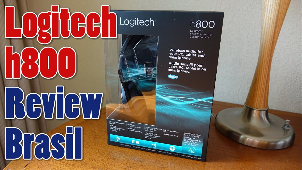 Nano receiver for wireless headset h800 - Logitech H800 Unboxing E Review Brasil
