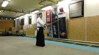 shomen uchikomi [TUTORIAL] Aikido basic weapon technique / men no bu