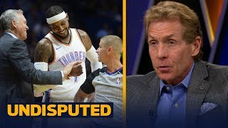 Skip Bayless impressed with Carmelo Anthony's OKC preseason debut | UNDISPUTED