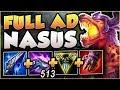 STOP PLAYING NASUS WRONG! 200 IQ TEAR RUSH NASUS! NASUS SEASON 8 TOP GAMEPLAY! - League of Legends