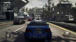 GRID 2 PC Multiplayer Gameplay: Tier 2 Chevrolet Cruze Touring Car in Hong Kong, Peak Road Descent
