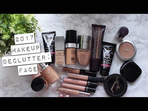 Makeup Declutter 2017 | foundations, concealers, powders, primers