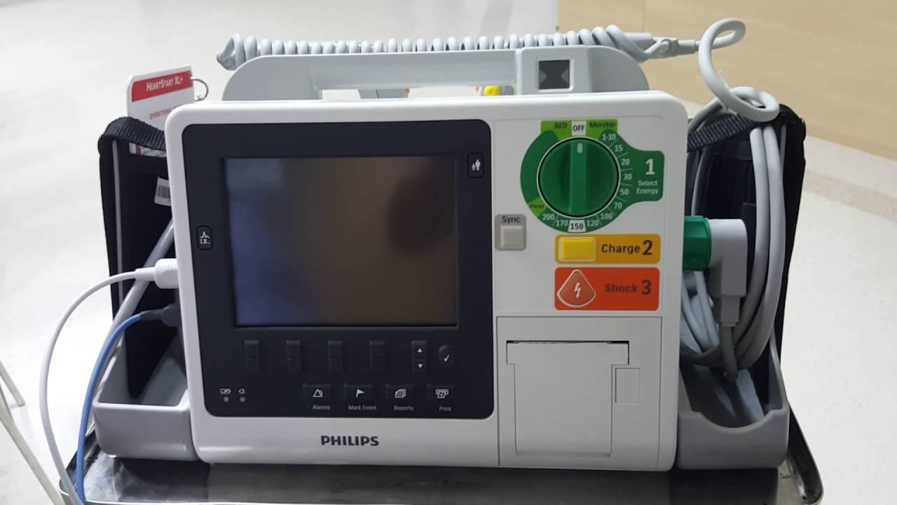 การใช้งาน : เครื่อง Defibrillator Philips HeartStart XL+