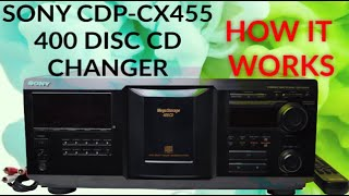 Sony 400 Disc CD Player Compact Disc Explorer CDP-CX455 Product Demo