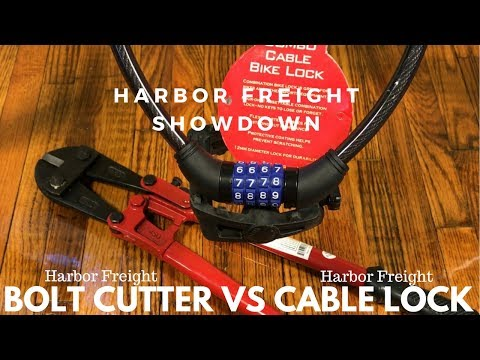 Can Harbor Freight Pittsburg Bolt Cutters cut a Harbor Freight Bike Lock?