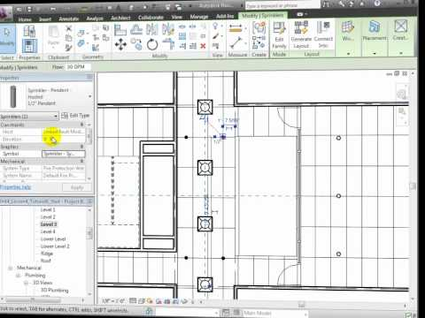 Revit MEP - Modelling Fire Protection Systems