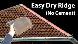 How to Replace Ridge Tiles - Fit a Dry Hip Ridge