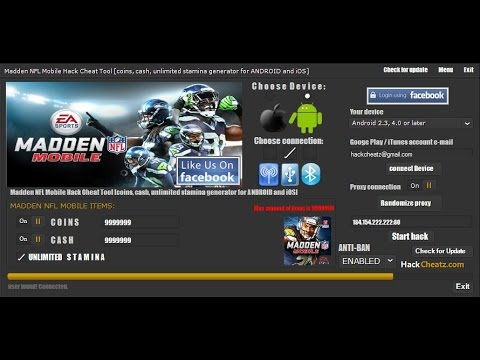Madden Mobile 17 Unlimited Coins Hack!!! Software Bug!!!
