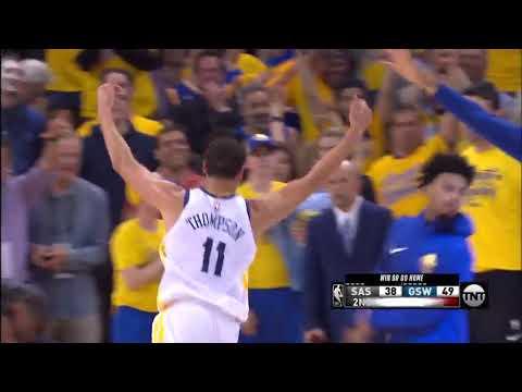 Klay Thompson Hits Buzzer Beater Shot! | San Antonio Spurs vs Golden State Warriors |