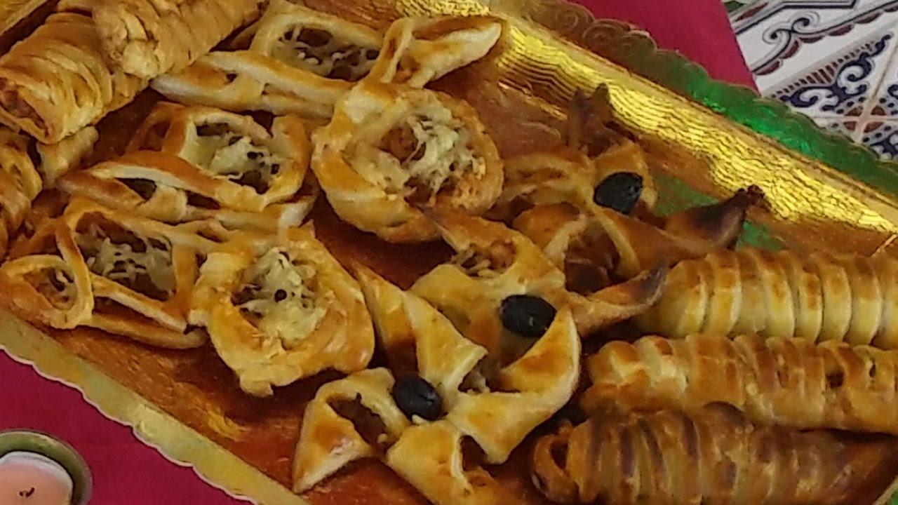 des salés (amuse-gueule ou apéritif) à la pâte feuilletée مملحات
