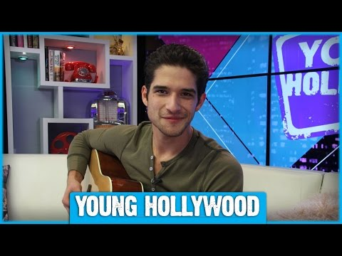 Tyler Posey Plays Guitar and Air Drums