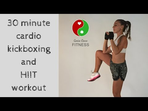 30 minute cardio kickboxing and HIIT workout