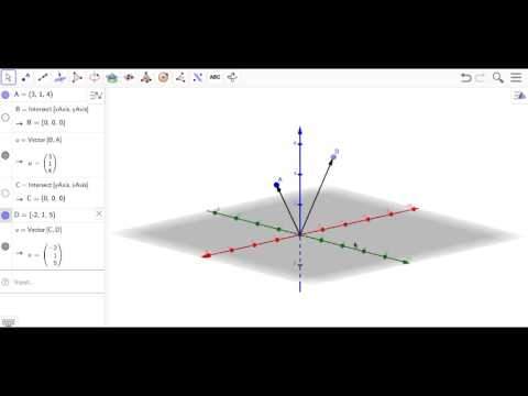 Plotting Points and Vectors in 3d with Geogebra - YouTube