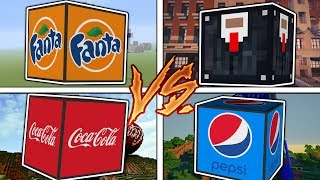 Minecraft 1V1V1V1 CRAZY COCA COLA VS FANTA VS PEPSI VS KINGSMAN!?  (Minecraft Modded Minigame)