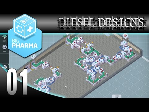 Big Pharma Game: EP1: Making Drugs! (Gameplay 60FPS)