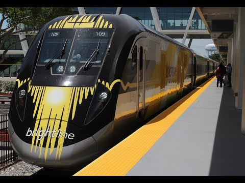 Riding The Brightline From West Palm Beach To Fort Lauderdale, Florida!