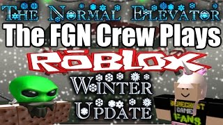 The FGN Crew Plays: ROBLOX - The Normal Elevator Winter Update (PC)