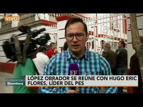 AMLO se reúne con Hugo Erick Flores, tratan pérdida del registro del PES