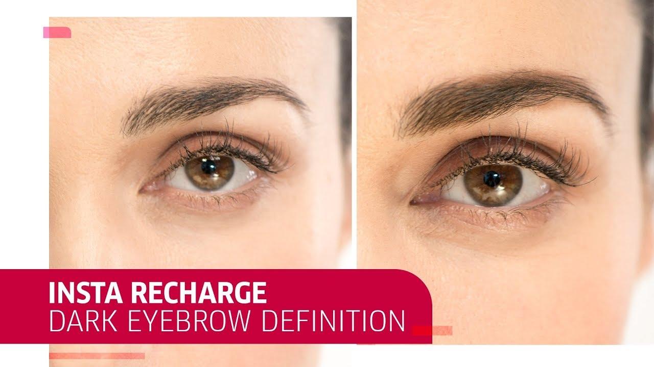 How To Define Dark Eyebrows With Insta Recharge Wella