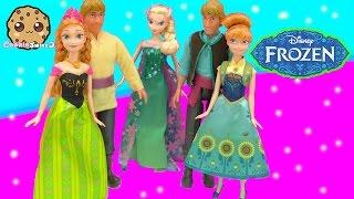 Queen Elsa, Kristoff , Princess Anna Dolls from Disney Frozen Fever Short Film - Cookieswirlc Video