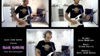 iron maiden the clairvoyant guitar cover