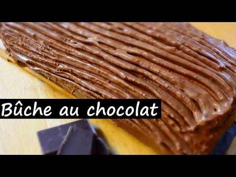 Ma Bûche au CHOCOLAT Allégée sans sucre ajouté Healthy Gourmand simple