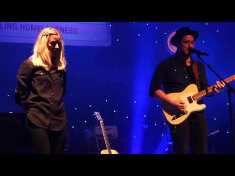 Ellie Goulding & Mumford & Sons, Your Song, @ Streets of London, Dec 2015
