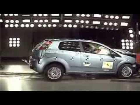 Crash Test Fiat Grande Punto 2005 Youtube