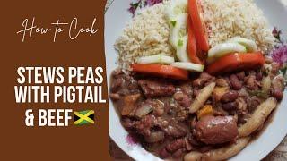 HOW TO COOK JAMAICAN STEW PEAS  Sjays Cook n Bake Ep6