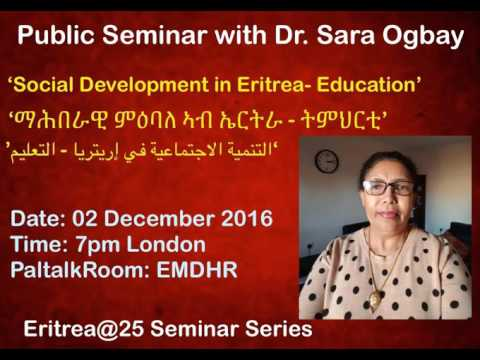 Dr. Sara Ogbay Seminar Part - 1