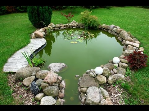 Como hacer piletas de agua para jardin youtube for Como construir estanques para peces