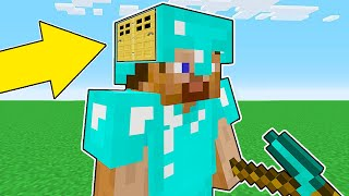 Minecraft Battle - NOOB vs PRO : NOOB BUILT HEAD BLOCK BASE INSIDE PRO ! (Animation)