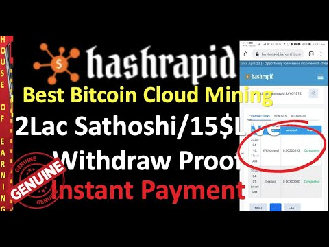 I Hashrapid Best Bitcoin Cloud Mining I 15$ Instant Live Payment Proof I Is it Legit or scam I